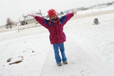 Presley in snow